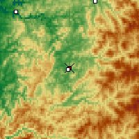 Nearby Forecast Locations - Roseburg - Mapa