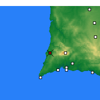 Nearby Forecast Locations - Aljezur - Mapa