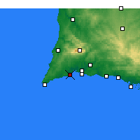 Nearby Forecast Locations - Lagos - Mapa