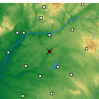 Nearby Forecast Locations - Ponte de Sor - Mapa
