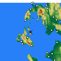 Nearby Forecast Locations - Ithaka - Mapa