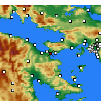 Nearby Forecast Locations - Isthmia - Mapa