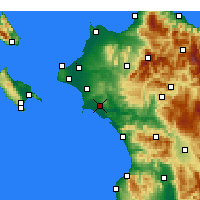 Nearby Forecast Locations - Pyrgos - Mapa