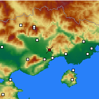 Nearby Forecast Locations - Filippoi - Mapa