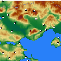 Nearby Forecast Locations - Rodolivos - Mapa