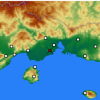 Nearby Forecast Locations - Abdéra - Mapa