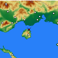 Nearby Forecast Locations - Thasos - Mapa