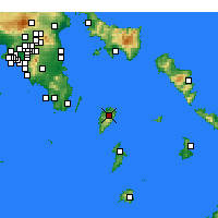 Nearby Forecast Locations - Kea - Mapa