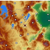 Nearby Forecast Locations - Ptolemaida - Mapa