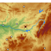Nearby Forecast Locations - Úbeda - Mapa