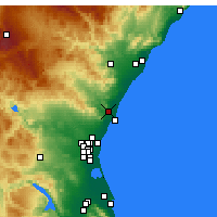 Nearby Forecast Locations - Sagunto - Mapa
