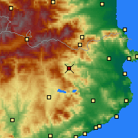 Nearby Forecast Locations - Olot - Mapa