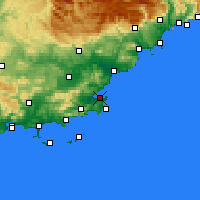 Nearby Forecast Locations - Saint-Tropez - Mapa