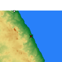 Nearby Forecast Locations - Marsá Alam - Mapa