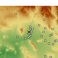 Nearby Forecast Locations - Glendale - Mapa