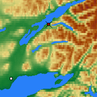 Nearby Forecast Locations - Port Alsworth - Mapa