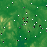 Nearby Forecast Locations - Wolverhampton - Mapa