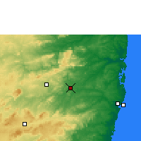 Nearby Forecast Locations - Limoeiro - Mapa