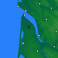 Nearby Forecast Locations - Lesparre-Médoc - Mapa