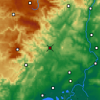 Nearby Forecast Locations - Alès - Mapa