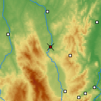 Nearby Forecast Locations - Roanne - Mapa