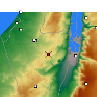 Nearby Forecast Locations - Dimona - Mapa