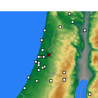 Nearby Forecast Locations - Kafr Kasim - Mapa