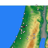 Nearby Forecast Locations - Petach Tikva - Mapa
