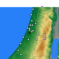 Nearby Forecast Locations - Rechovot - Mapa