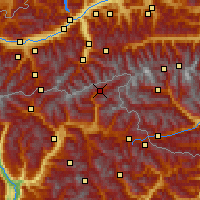 Nearby Forecast Locations - Ahrntal - Mapa