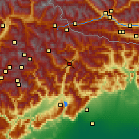 Nearby Forecast Locations - Cadore - Mapa