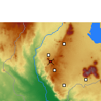 Nearby Forecast Locations - Blantyre - Mapa