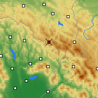 Nearby Forecast Locations - Żubracze - Mapa