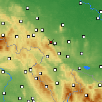 Nearby Forecast Locations - Dzierżoniów - Mapa