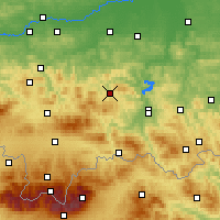 Nearby Forecast Locations - Limanowa - Mapa