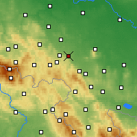 Nearby Forecast Locations - Svídnice - Mapa