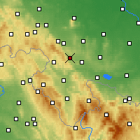 Nearby Forecast Locations - Żdanów - Mapa