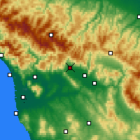 Nearby Forecast Locations - Pistoia - Mapa
