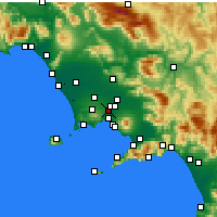 Nearby Forecast Locations - Casoria - Mapa