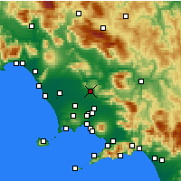 Nearby Forecast Locations - Caserta - Mapa