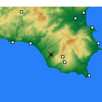 Nearby Forecast Locations - Vittoria - Mapa