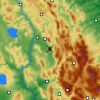 Nearby Forecast Locations - Foligno - Mapa