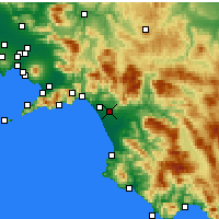 Nearby Forecast Locations - Battipaglia - Mapa