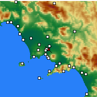 Nearby Forecast Locations - Casalnuovo di Napoli - Mapa