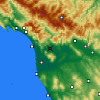 Nearby Forecast Locations - Lucca - Mapa