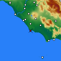 Nearby Forecast Locations - Anzio - Mapa