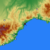 Nearby Forecast Locations - Savona - Mapa
