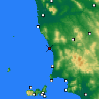 Nearby Forecast Locations - Marina de Cecina - Mapa