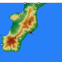Nearby Forecast Locations - Roccella Ionica - Mapa