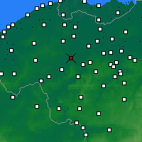 Nearby Forecast Locations - Deinze - Mapa